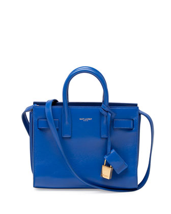 Sac de Jour Mini Crossbody Bag, Cobalt Blue