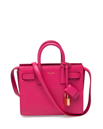 Sac de Jour Mini Crossbody Bag, Fuchsia