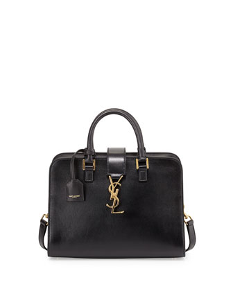 Monogramme Mini Zip-Around Satchel Bag, Black