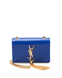 Monogram Small Crossbody Bag, Cobalt Blue