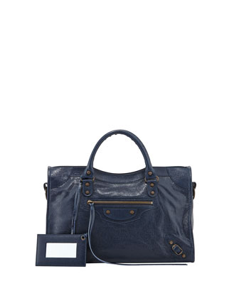 Classic City Bag, Dark Blue
