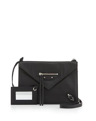Papier Envelope Crossbody Bag, Black