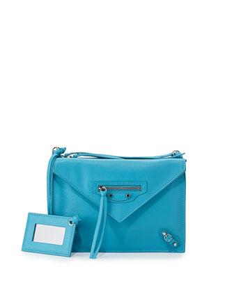 Papier Envelope Crossbody Bag, Blue