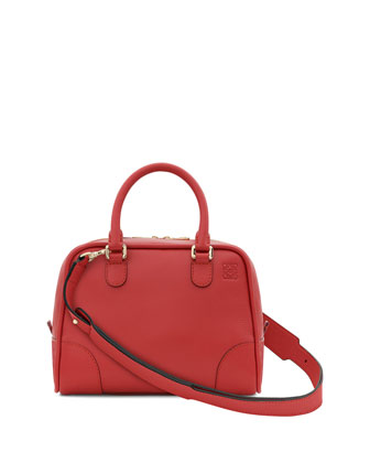 Amazona 75 Small Calfskin Tote Bag, Red