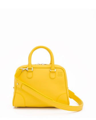 Amazona 75 Small Calfskin Tote Bag, Yellow