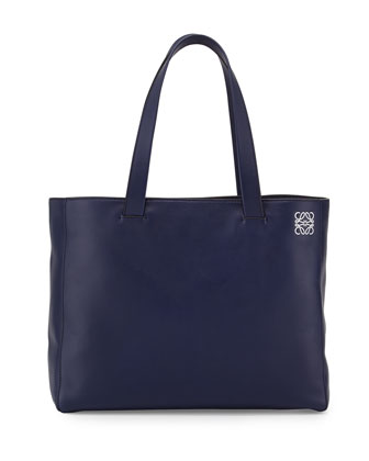 East-West Small Shopper Tote Bag, Navy