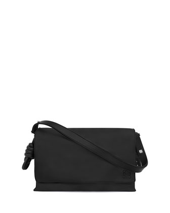 Flamenco Flap Shoulder Bag, Black