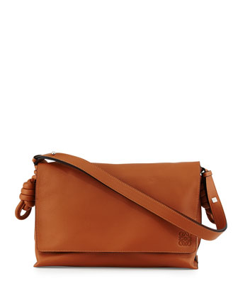 Flamenco Flap Shoulder Bag, Tan