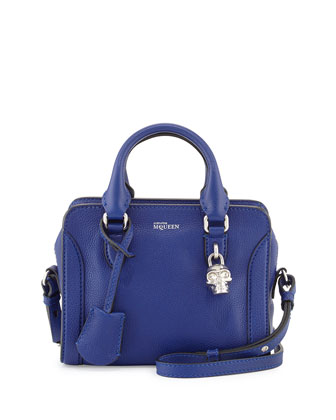 Mini Padlock Satchel Bag, Blue