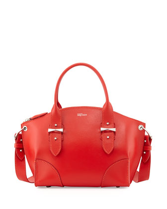 Legend Small Satchel Bag, Red