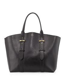 Legend Medium Leather Tote Bag, Black
