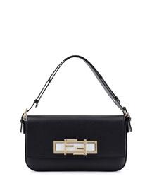 New Baguette Shoulder Bag, Black/White