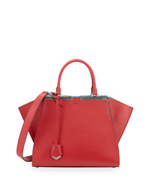Trois-Jour Mini Shopping Tote Bag, Red/Turquoise