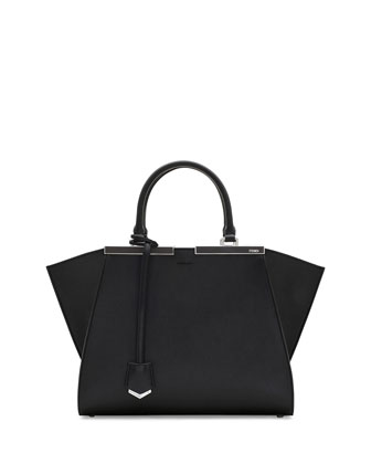 Trois-Jour Mini Shopping Tote Bag, Black/White