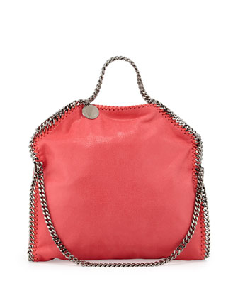 Falabella Small Fold-Over Tote Bag, Bright Coral