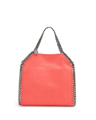 Falabella Mini Tote Bag, Bright Coral