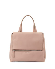 Pandora Pure Medium Leather Satchel Bag, Pale Pink