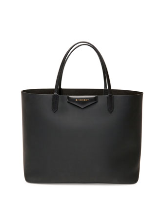 Antigona Large Leather Shopping Tote, Black