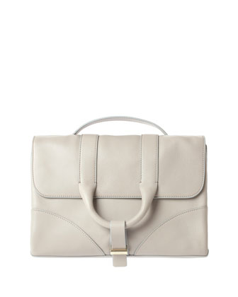 Hanne Leather Satchel Bag, Beige
