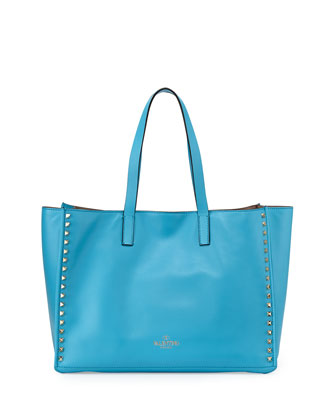 Rockstud Medium Soft Tote Bag, Blue