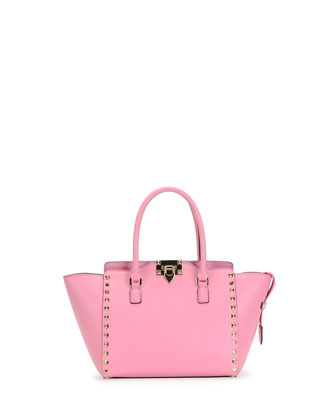 Rockstud Small Shopper Bag, Pink