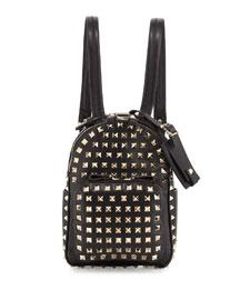 Rockstud Mini Backpack, Black