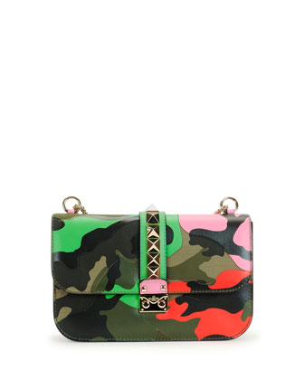 Lock Psychedelic Camo Medium Shoulder Bag