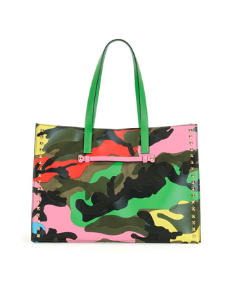 Psychedelic Camo Soft Tote Bag
