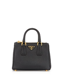 Saffiano Mini Galleria Crossbody Bag, Black (Nero)