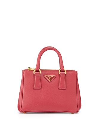 Saffiano Mini Galleria Crossbody Bag, Pink (Peonia)