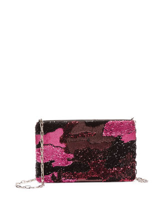 Sequin Camo Crossbody Bag, Pink Multi (Rosa)