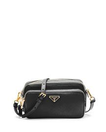 Saffiano Mini Crossbody Bag, Black (Nero)