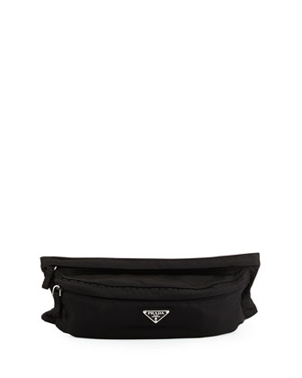Tessuto Montana Belt Bag, Black (Nero)