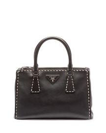 City Mini Galleria Tote Bag, Black/White (Nero)