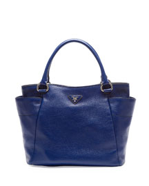 Daino Side-Pocket Tote Bag, Navy (Inchiostro)
