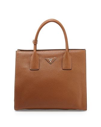 Daino Tote Bag, Medium Brown (Brandy)