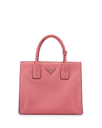 Daino Twin-Pocket Tote, Light Pink (Begonia)