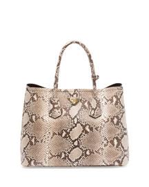 Python Double Bag, Natural/Multi (Roccia)