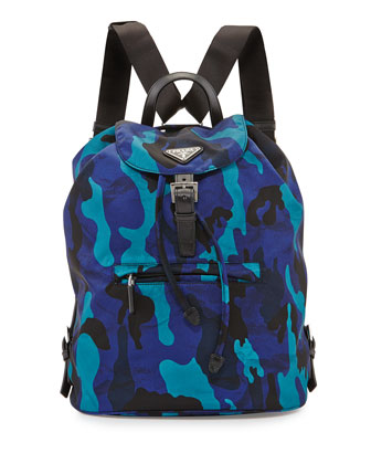Tessuto Camouflage Backpack, Blue (Royal)