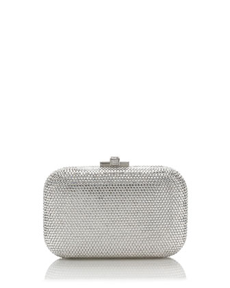 Crystal Slide-Lock Clutch Bag, Rhine