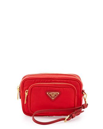 Tessuto Small Pocket Crossbody Bag, Red (Rosso)