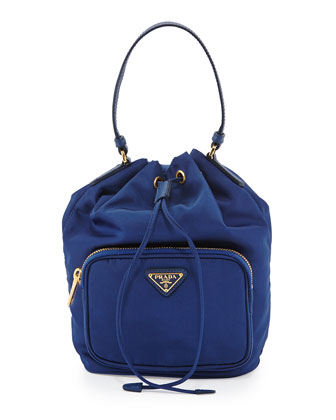 Tessuto Mini Bucket Crossbody Bag, Royal Blue (Royal)