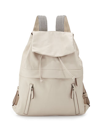 K-Way Monili Lambskin Backpack, Off White