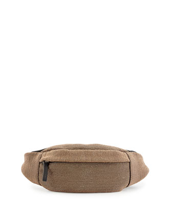 Monili Leather Belt Bag, Gold