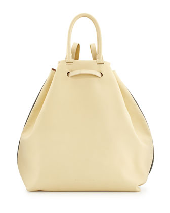 Monili Chain-Trim Tote/Backpack, Cream