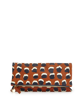 Supreme Brushed Dot-Print Fold-Over Clutch Bag