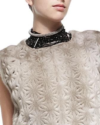 Black Agate Choker Necklace