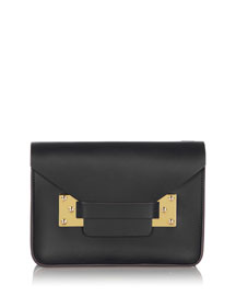 Mini Milner Clutch Bag, Black