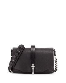 Enfield Mini Leather Shoulder Bag, Black