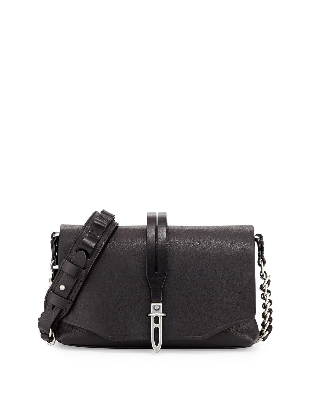 Rag & Bone Enfield Mini Leather Shoulder Bag, Black